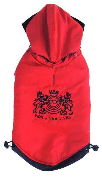 Hundemantel Venezia Red Front