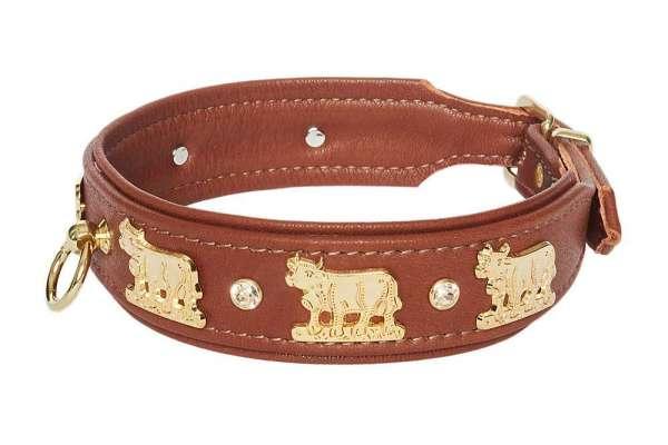Hundehalsband Lucky Muh - Rehbraun