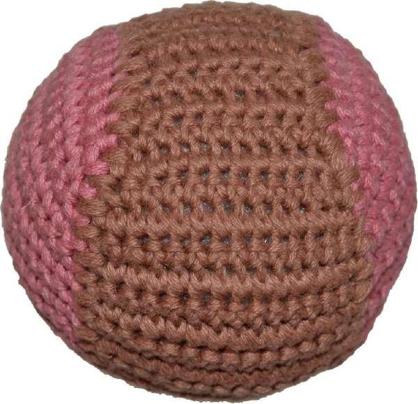 Hundespielzeug Handgehäkelter Ball - Cappucino-Malve
