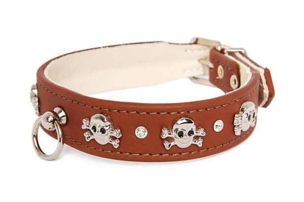 Hundehalsband Pirat - Rehbraun