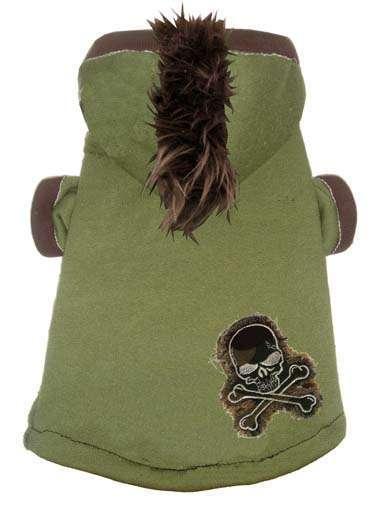 Hunde-Sweater Camou Skull Mohawk