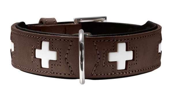 Hundehalsband Swiss Braun