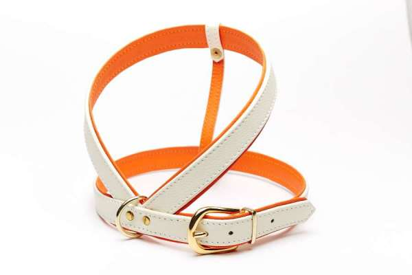 Hundegeschirr Classic Crema-Orange
