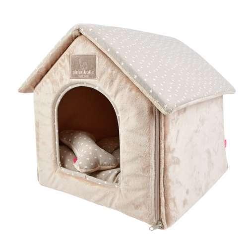 Designer Hunde-Schlafhöhle Luna House - Beige