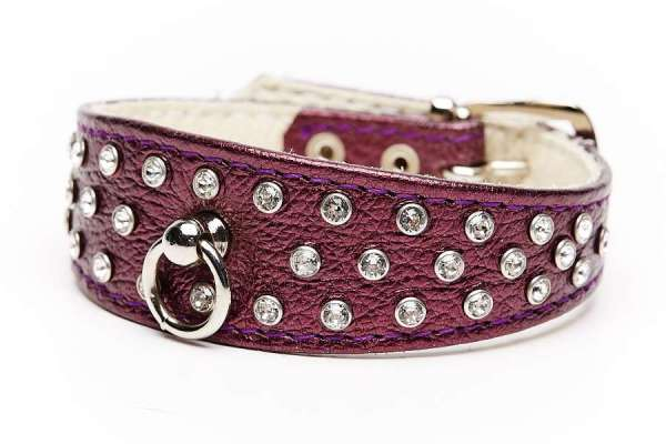 Hundehalsband 5th Avenue Berry Metallic