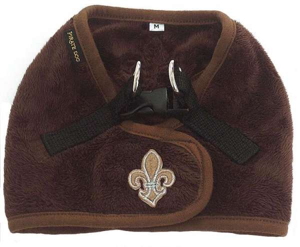 Step In Geschirr Fleur de Lis Brown Back