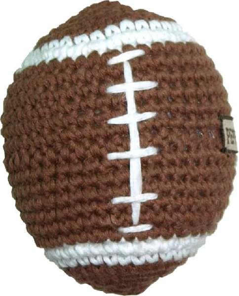 Hundespielzeug Football - Handgehäkelt