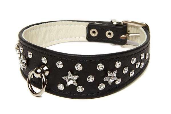 Hundehalsband Bellagio Star - Black
