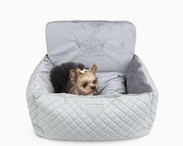 Luxus Autositz für Hunde Angione - Grey