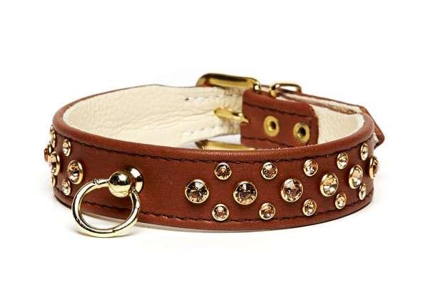 Hundehalsband Rehbraun - Topaz