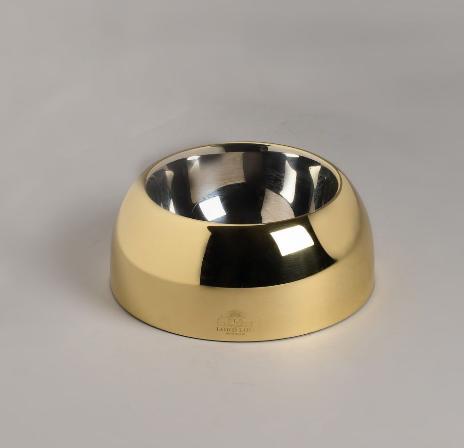 Designer Hundefressnapf Capri - Gold Bowl