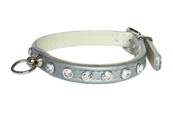 Hundehalsband Little Paris - Silver-Clear