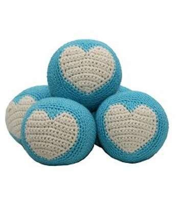 Spielball Blau mit Herz