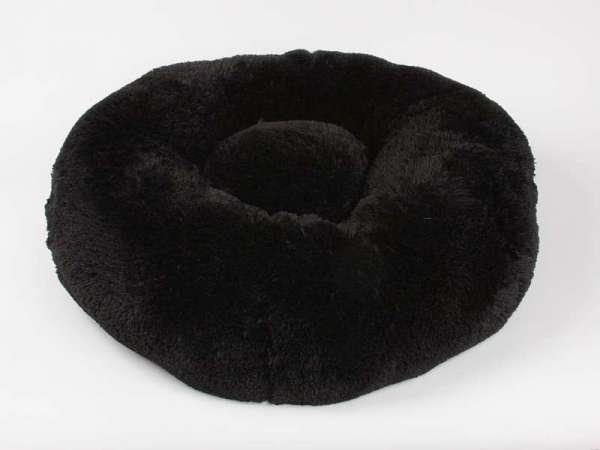 Designer Hundebett Soft Shag - Black