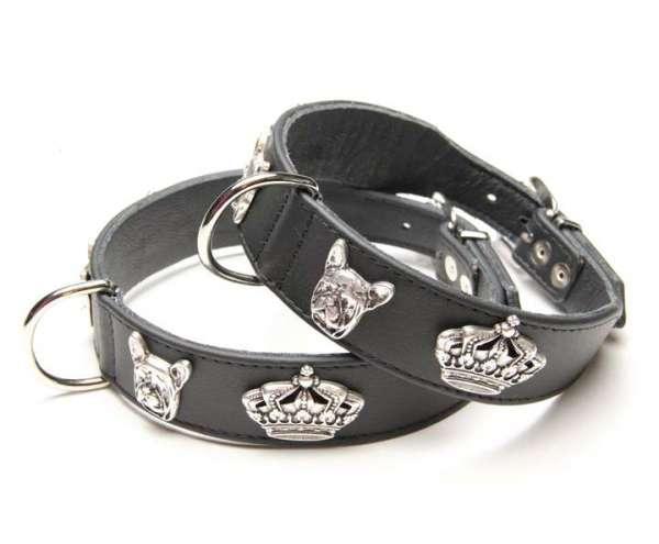 Französisch Bulldog Halsband Majestic Bully - Black