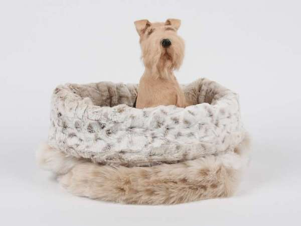 Hundedecke Cuddle Cup Bed Snow Leopard - Super Soft Snow Leo