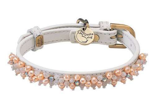 Hundehalsband Magic Pearls Rosenquarz