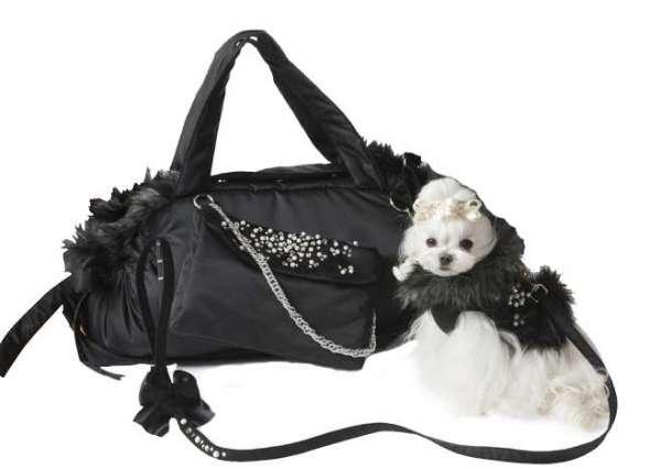 Luxus Hundetasche Mon Cherie´- Black