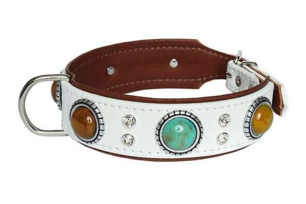 Hundehalsband Granada Deluxe -Beige-Rehbraun