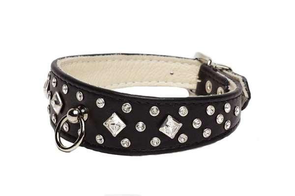 Hundehalsband Bellagio Black
