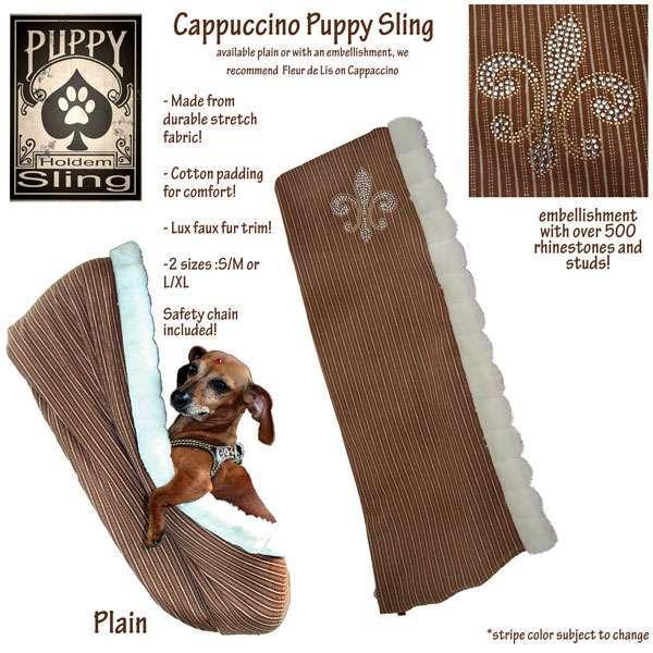 Hundetragetuch Puppy Sling Fleur de Lis