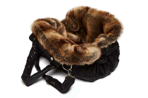 TG&L Hundetasche Bellagio - Chinchilla Braun-Vintage Black