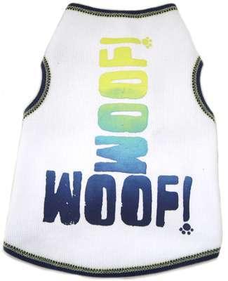 Hunde-Shirt WOOF White-Blue