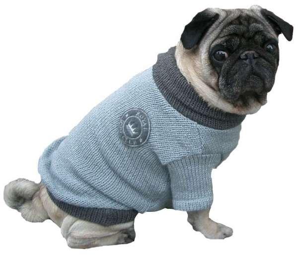 Hundepullover Dakota Hellgrau-Anthrazit