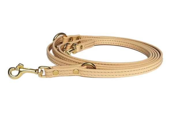 Verstellbare Hundeleine - Beige-Gold