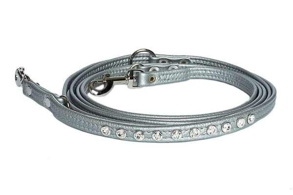 Verstellbare Hundeleine - Silver-Clear