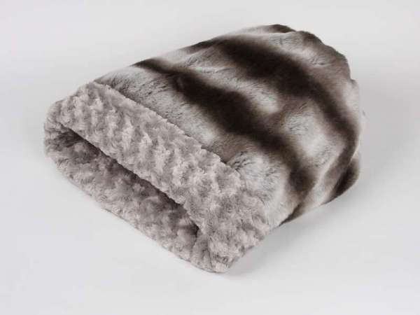 Luxus Hundedecke Cuddle Cup Bed Platinum Chinchilla - Silver Curly - Luxury Edition