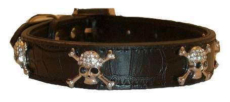 Hundehalsband Luxury Skulls