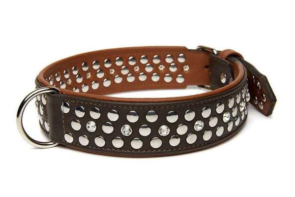 Hundehalsband Rockstar - Braun