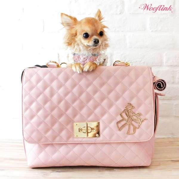 Designer Hundetasche Nizza Bag - Rosa