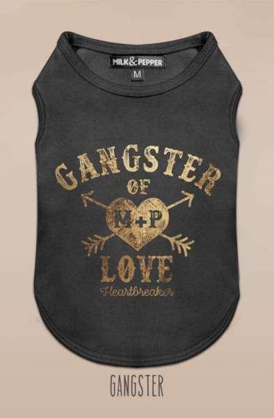 Milk & Pepper Hunde-Shirt GANGSTER