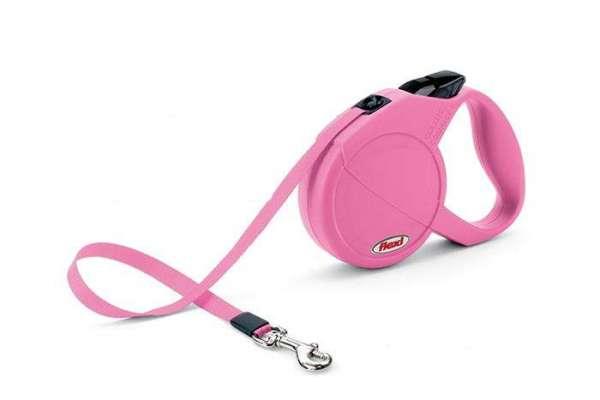 Flexi Leine Pink bis 15kg mit Gurtband