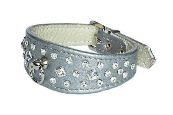 Hundehalsband Bellagio - Silver-Clear
