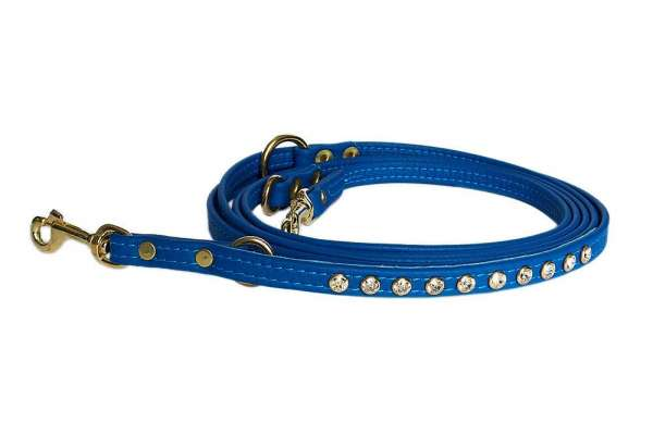 Verstellbare Hundeleine - Cobalt Blue