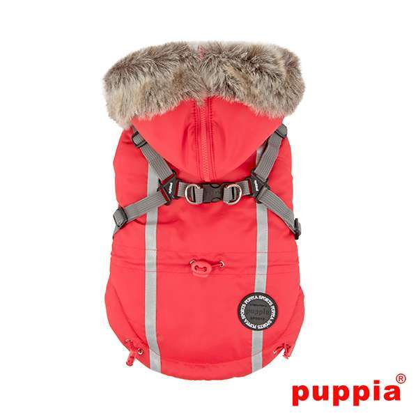 Puppia Hundemantel Clark - Rot