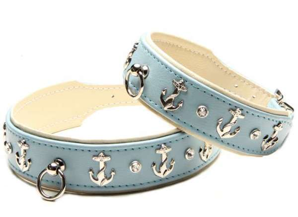 Hundehalsband Beach Dog - Skyblue