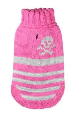 Hundepullover Skull & Stripes Pink
