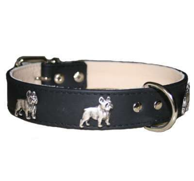 Hundehalsband French Bulldog Black