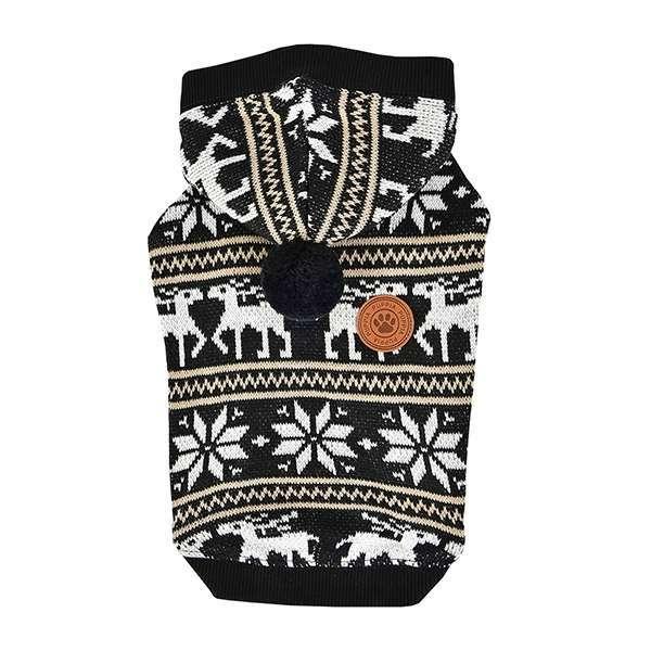 Puppia Hunde-Sweater Prancer - Black