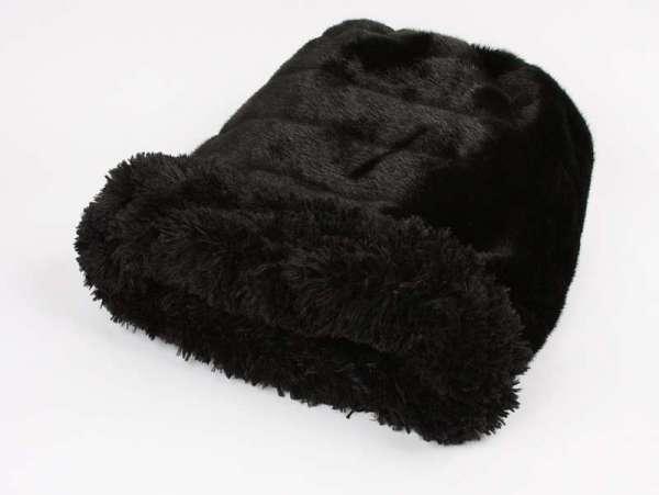Hundedecke Cuddle Cup Bed Black Puma - Black Shag