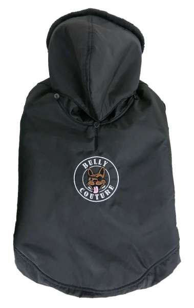 Französisch Bulldog Mantel Bully Couture - Black