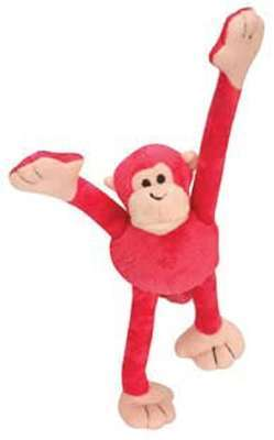 Hundespielzeug Crazy Monkey Pink