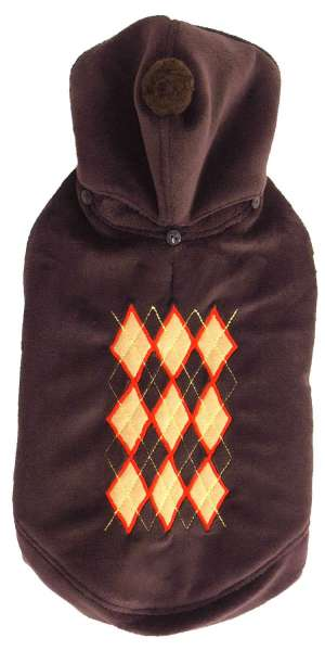 Hundemantel Super Soft Argyle Choco