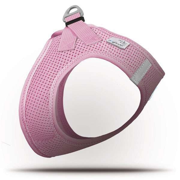 Curli Step In Geschirr Air Mesh - Rosa inklusiv Dogfinder