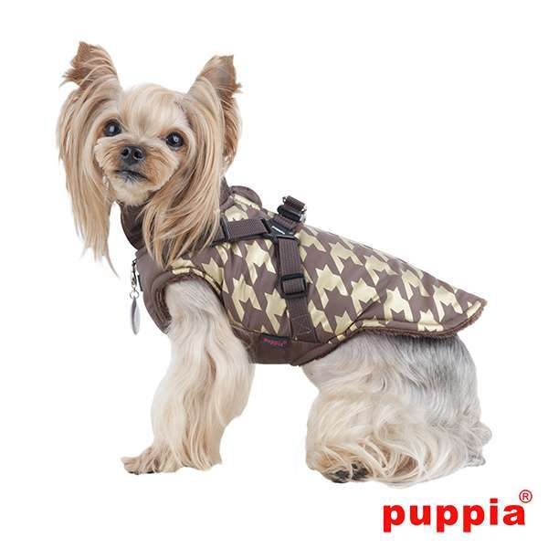Puppia Hundemantel Dogstooth - Brown