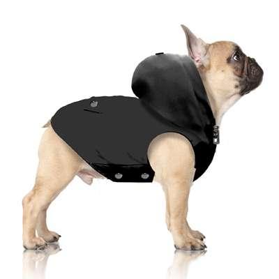 Hunde Regenmantel Gallagher - Anthrazit - Bully & Mops